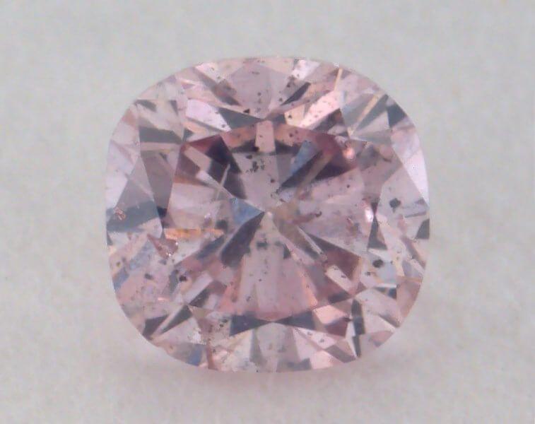 0.13 Carat, Natural Fancy Purple-Pink Diamond, SI2 Clarity, Cushion Shape, GIA