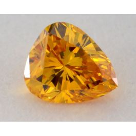 0.20 Carat, Natural Fancy Vivid Orange-Yellow Diamond, I1 Clarity, Pear Shape, GIA