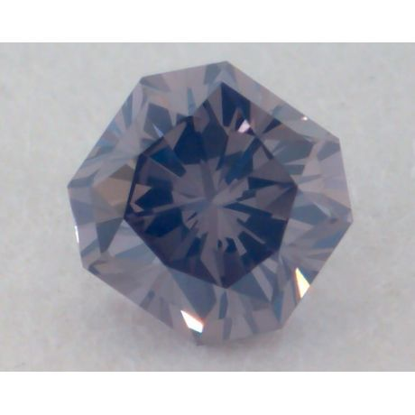 0.13 Carat, Natural Fancy Violet-Gray Diamond, VS1 Clarity, Radiant Shape, GIA