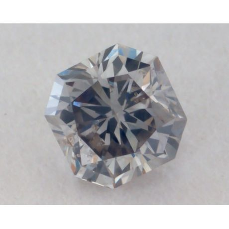 0.14 Carat, Natural Fancy Gray Diamond, SI2 Clarity, Radiant Shape, GIA