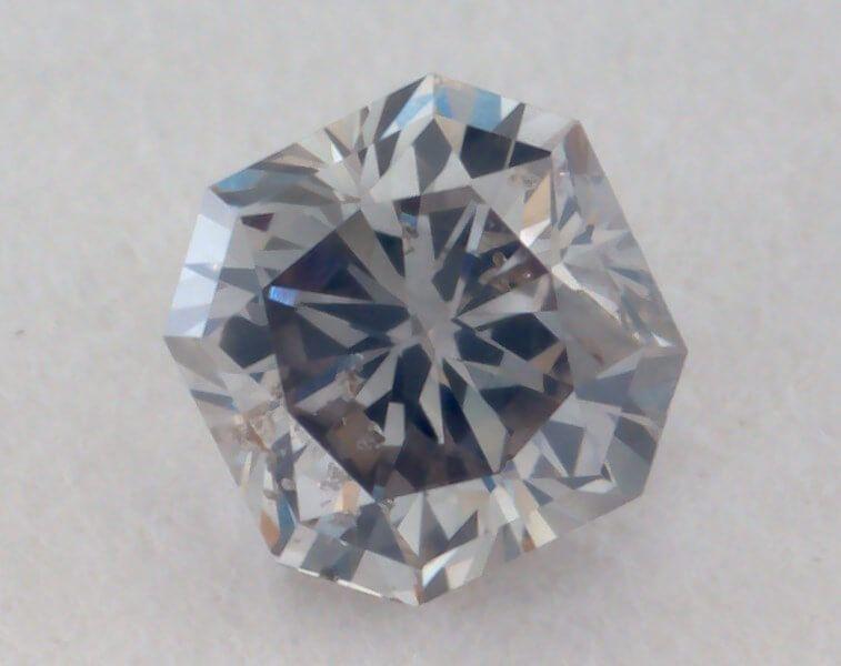 0.14 Carat, Natural Fancy Gray Diamond, SI2 Clarity, Radiant Shape, GIA
