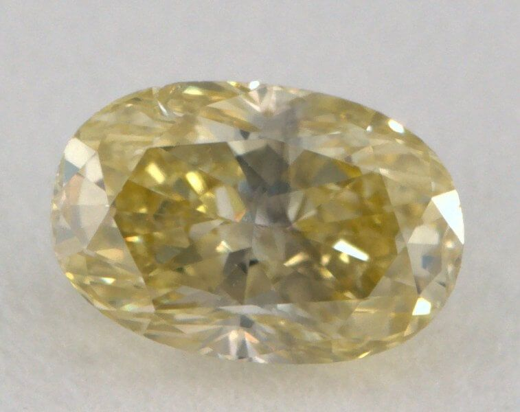0.29 Carat, Natural Fancy Yellow, Oval Shape, I1 Clarity, GIA