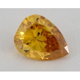 0.22 carat, Natural Fancy Deep Yellowish Orange, Pear Shape, I1 Clarity, GIA