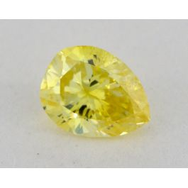 0.32 carat, Natural Fancy Intense Yellow, Pear Shape, SI1 Clarity, GIA