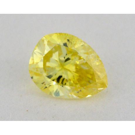 0.32 carat, Natural Fancy Intense Yellow, Pear Shape, SI1 Clarity, GIA