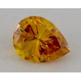 0.18 carat, Natural Fancy Deep Orange, Pear shape, VS1 Clarity, IGI
