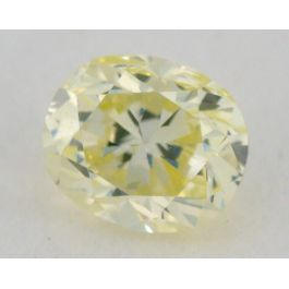 0.23 carat, Natural Fancy Light Greenish Yellow, Radiant Shape, VS2 Clarity, IGI