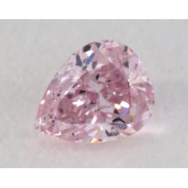 0.19 Carat, Natural Fancy Brown Pink Diamond, I1 Clarity, Pear Shape, IGI