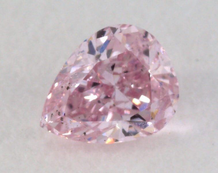 0.19 Carat, Natural Fancy Brown Pink Diamond, I1 Clarity, Pear Shape, IGI