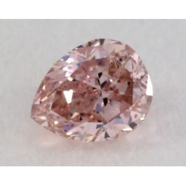 0.13 Carat, Natural Fancy Intense Purple Diamond, SI1 Clarity, Pear Shape, IGI