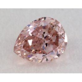0.13 Carat, Natural Fancy Intense Purple Diamond, SI1 Clarity, Pear Shape, IGI