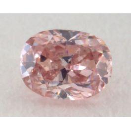 0.13 Carat, Natural Fancy Intense Brownish Pink Diamond, SI1 Clarity, Oval Shape, IGI