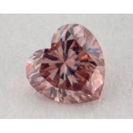0.16 Carat, Natural Fancy Deep Brown Pink Diamond, SI2 Clarity, Heart Shape, IGI