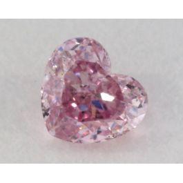 0.12 Carat, Natural Fancy Intense Purple Diamond, SI1 Clarity, Heart Shape, IGI