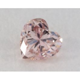 0.12 Carat, Natural Fancy Brownish Pink Diamond, I1 Clarity, Heart Shape, IGI