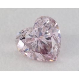0.21 Carat, Natural Fancy Pink Diamond, SI2 Clarity, Heart Shape, IGI
