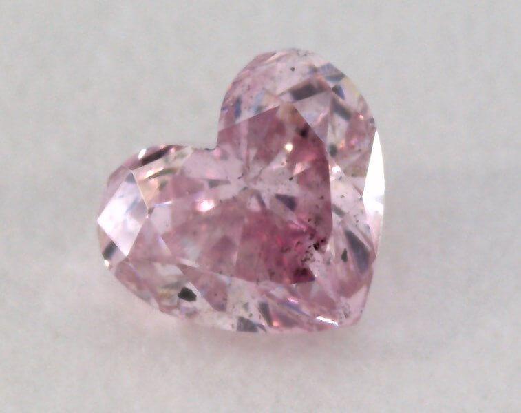 0.14 Carat, Natural Fancy Intense Purple Diamond, SI1 Clarity, Heart Shape, IGI