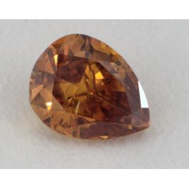 0.28 Carat, Natural Fancy Deep Brown-Orange, I1 Clarity, Pear Shape, GIA