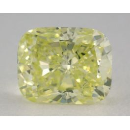 0.71 Carat, Natural Fancy Intense Green-Yellow, SI1 Clarity, Cushion Shape, GIA