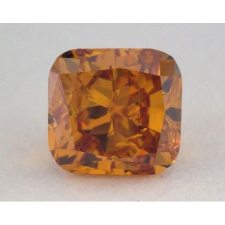 0.21 Carat, Natural Fancy Deep Brownish Yellowish Orange, Cushion Shape, SI1 Clarity, GIA