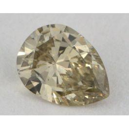 0.29 Carat, Natural Fancy Brownish Greenish Yellow, Pear Shape, SI2 Clarity, GIA