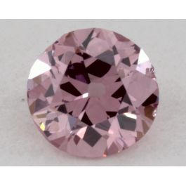 0.16 Carat, Natural Fancy Intense Purplish Pink, Round, SI1 Clarity, GIA