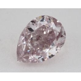 1.01 Carat, Natural Fancy Purple-Pink, Pear Shape, I2 Clarity, GIA