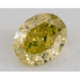 0.73 carat, Natural Fancy Vivid Greenish Yellow, Oval Shape, VS1 Clarity, GIA