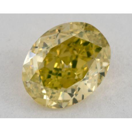 0.73 carat, Natural Fancy Vivid Greenish Yellow, Oval Shape, VS1 Clarity, GIA