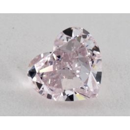 1.03 Carat, Natural Fancy Purplish Pink, Heart Shape, SI2 Clarity, GIA
