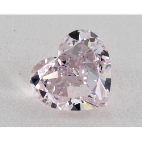 1.03 Carat, Natural Fancy Purplish Pink, Heart Shape, SI2 Clarity, GIA