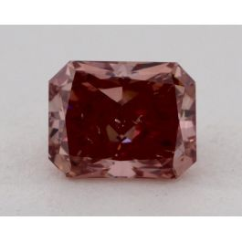 0.72 Carat, Natural Fancy Deep Pink, Radiant Shape, SI2 Clarity , GIA