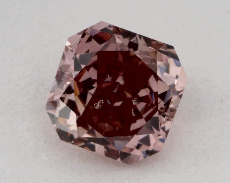 0.50 carat, Natural Fancy Intense Pink, Cushion Shape, I1 Clarity, GIA