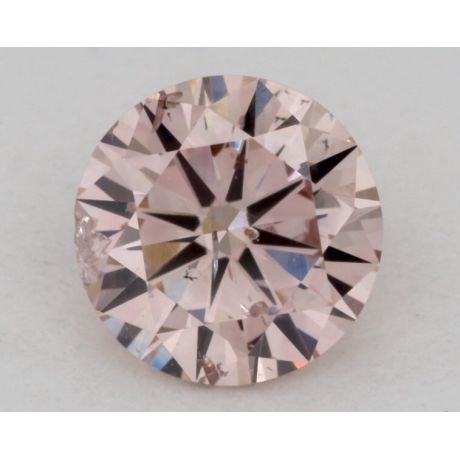 0.60 Carat, Natural Fancy Pink, Round, I1 Clarity, GIA