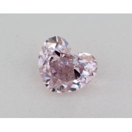 0.61 Carat, Natural Fancy Purple-Pink, Heart Shape, I1 Clarity, GIA