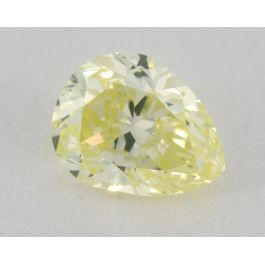 0.18 Carat, Natural Fancy Light Greenish Yellow, Pear Shape, VS2 Clarity, IGI