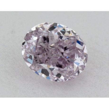 0.17 Carat, Natural Fancy Purple, Oval Shape, SI1 Clarity, IGI