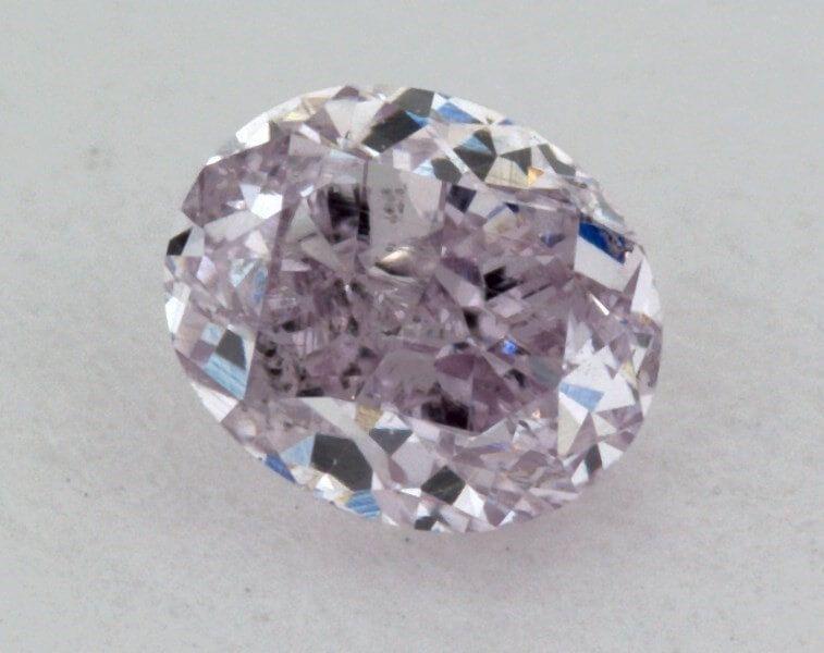 0.17 Carat, Natural Fancy Purple, Oval Shape, SI1 Clarity, IGI
