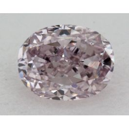 0.16 Carat, Natural Fancy Puple Pink, Oval Shape, VS2 Clarity, IGI