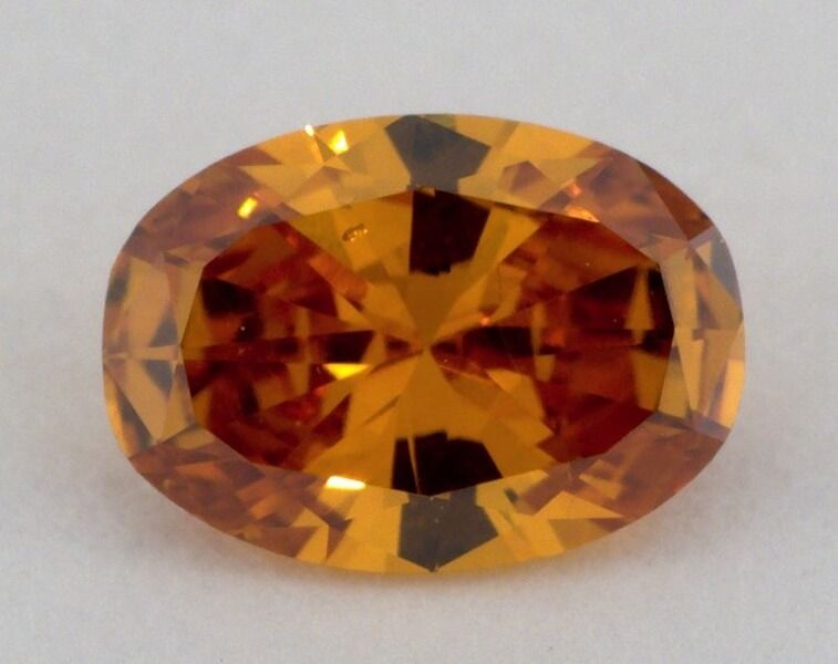 0.46 Carat, Natural Fancy Deep Brownish Yellowish Orange. Oval Shape, SI1 clarity, GIA