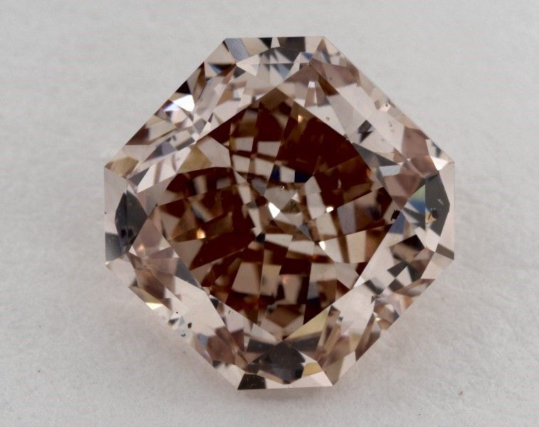 2.51 Carat, Natural Fancy Deep Brown-Pink, Radiant Shape, SI2 Clarity, GIA