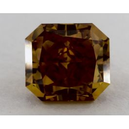 1.94 Carat, Natural Fancy Deep Brownish Orangy Yellow, Radiant Shape, VVS2 Clarity, GIA