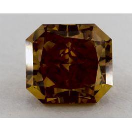 1.94 Carat, Natural Fancy Deep Brownish Orangy Yellow, Radiant Shape, VVS2 Clarity, GIA