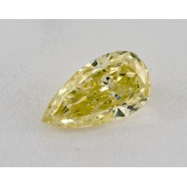 0.56 Carat, Natural Fancy Intense Yellow, Pear Shape, SI1 Clarity, GIA